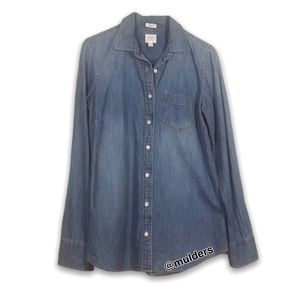 J. Crew Factory Denim Chambray Button Up